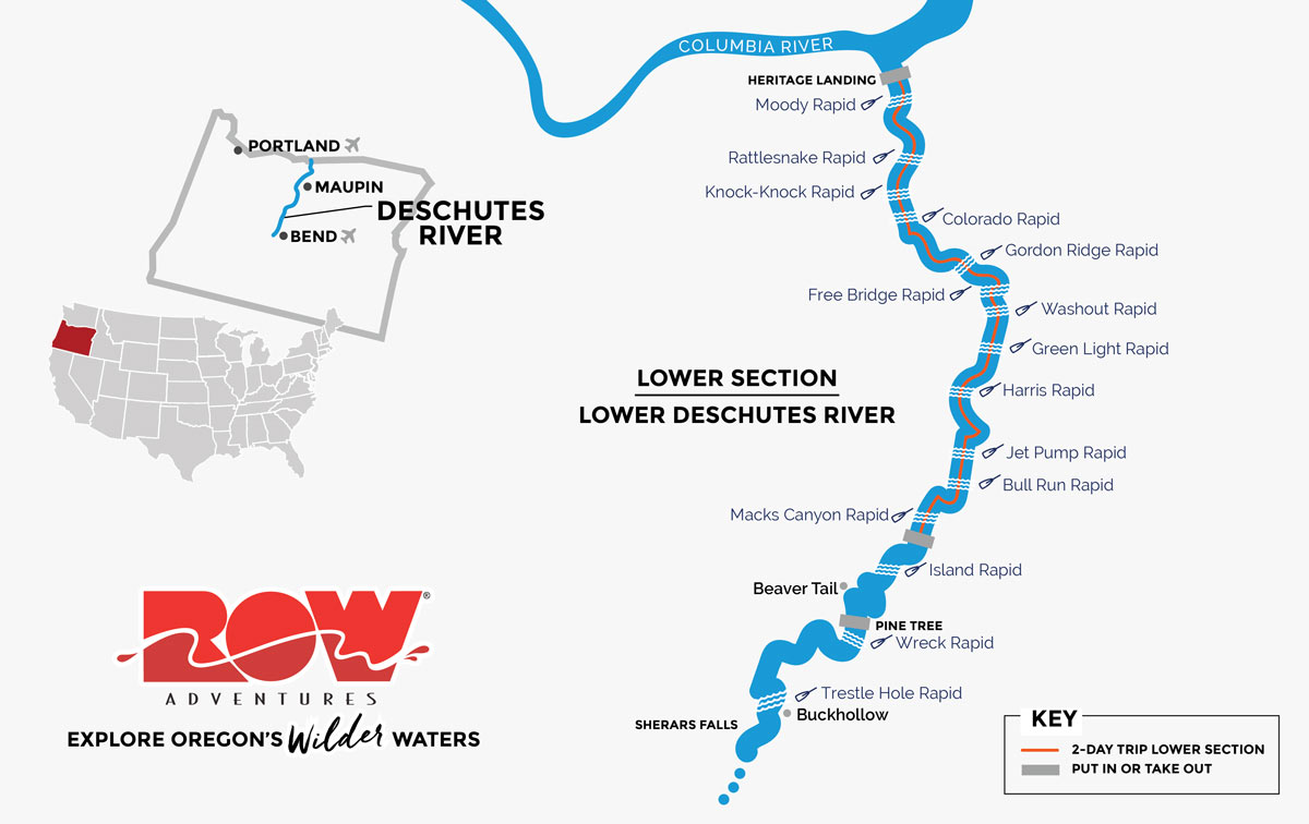 Route of the Deschutes - Lower Section