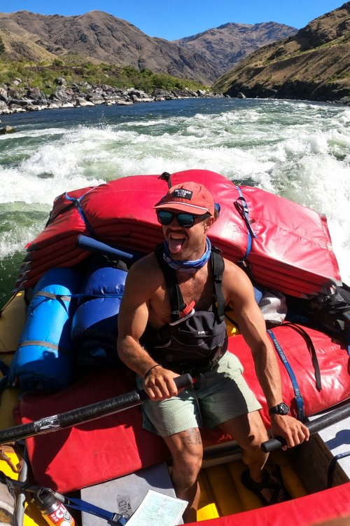 pacific northwest river guide on paddle boat