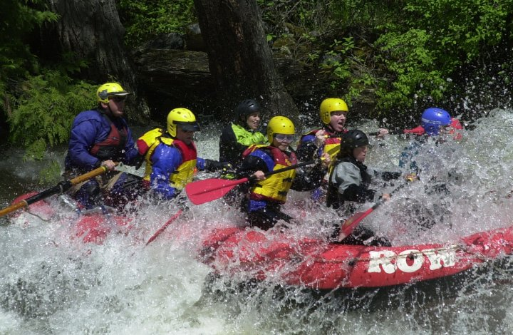 white water rafting on the lochsa river in idaho