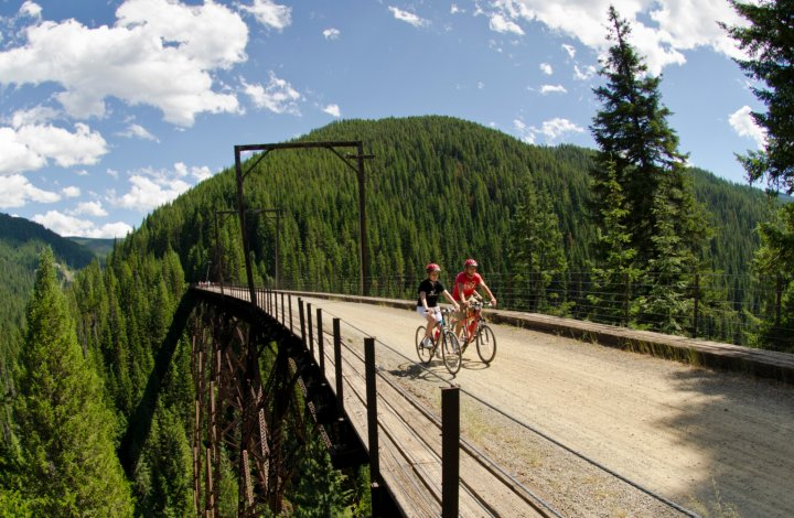 cycling on the Hiawatha Trail in Idaho