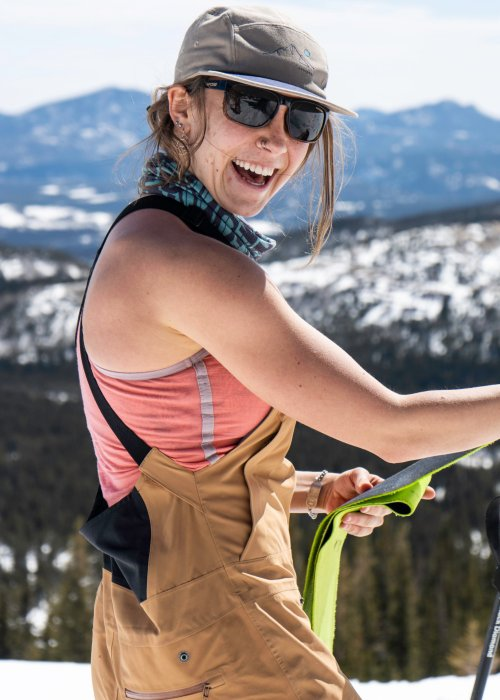 female skiing in Idaho