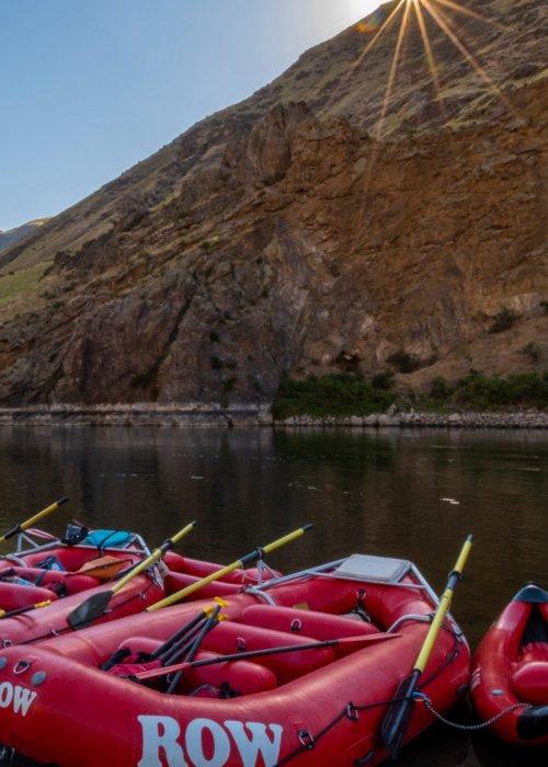 Rafts on Snake River