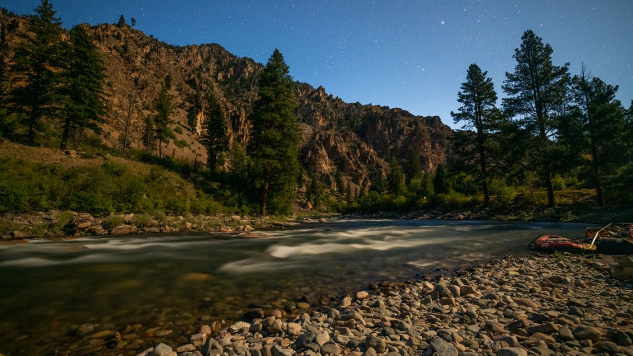 middle fork of the salmon river at dusk