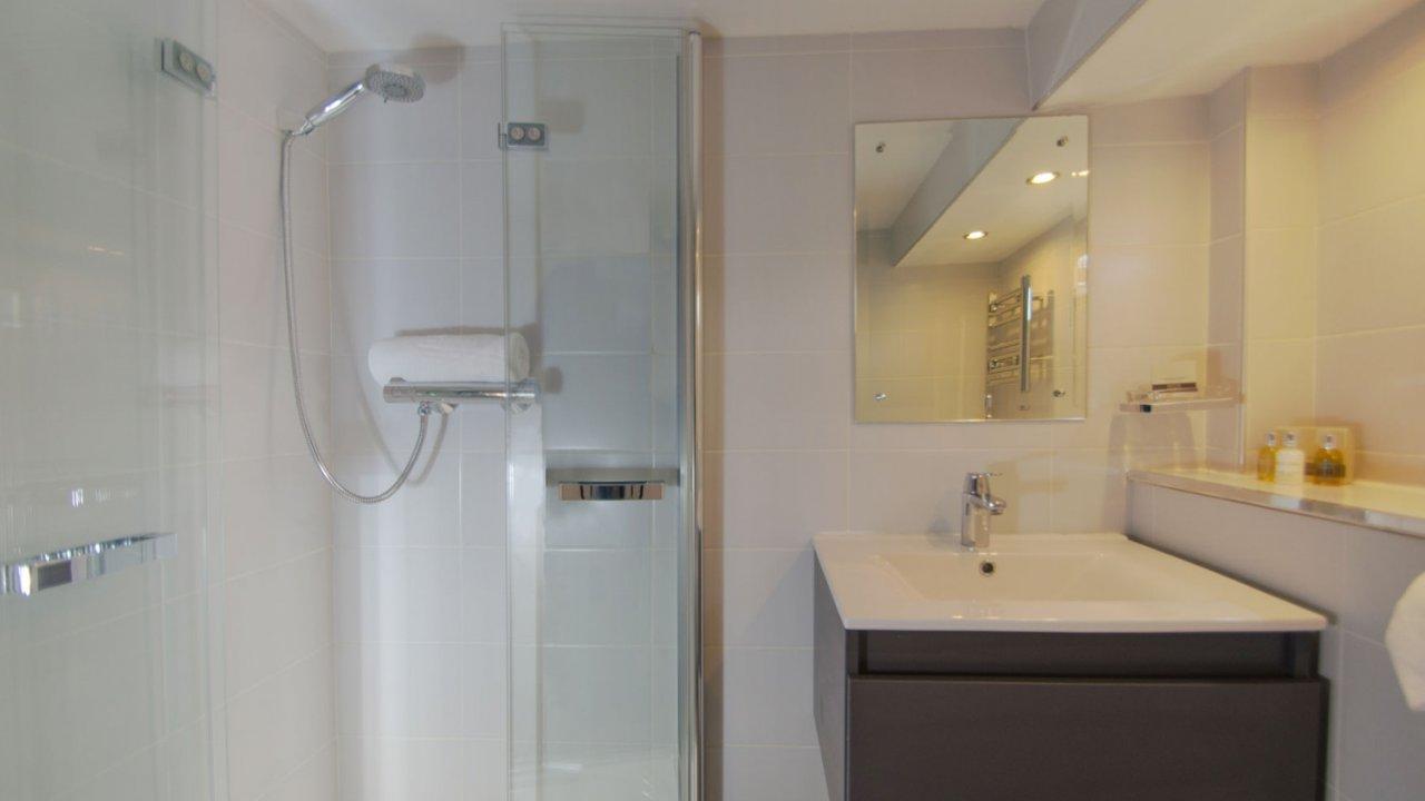 ensuite bathroom on luciole barge
