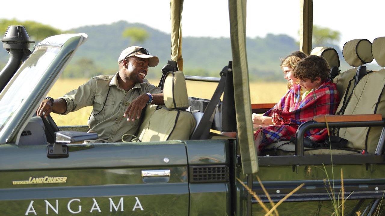 family safari in Africa
