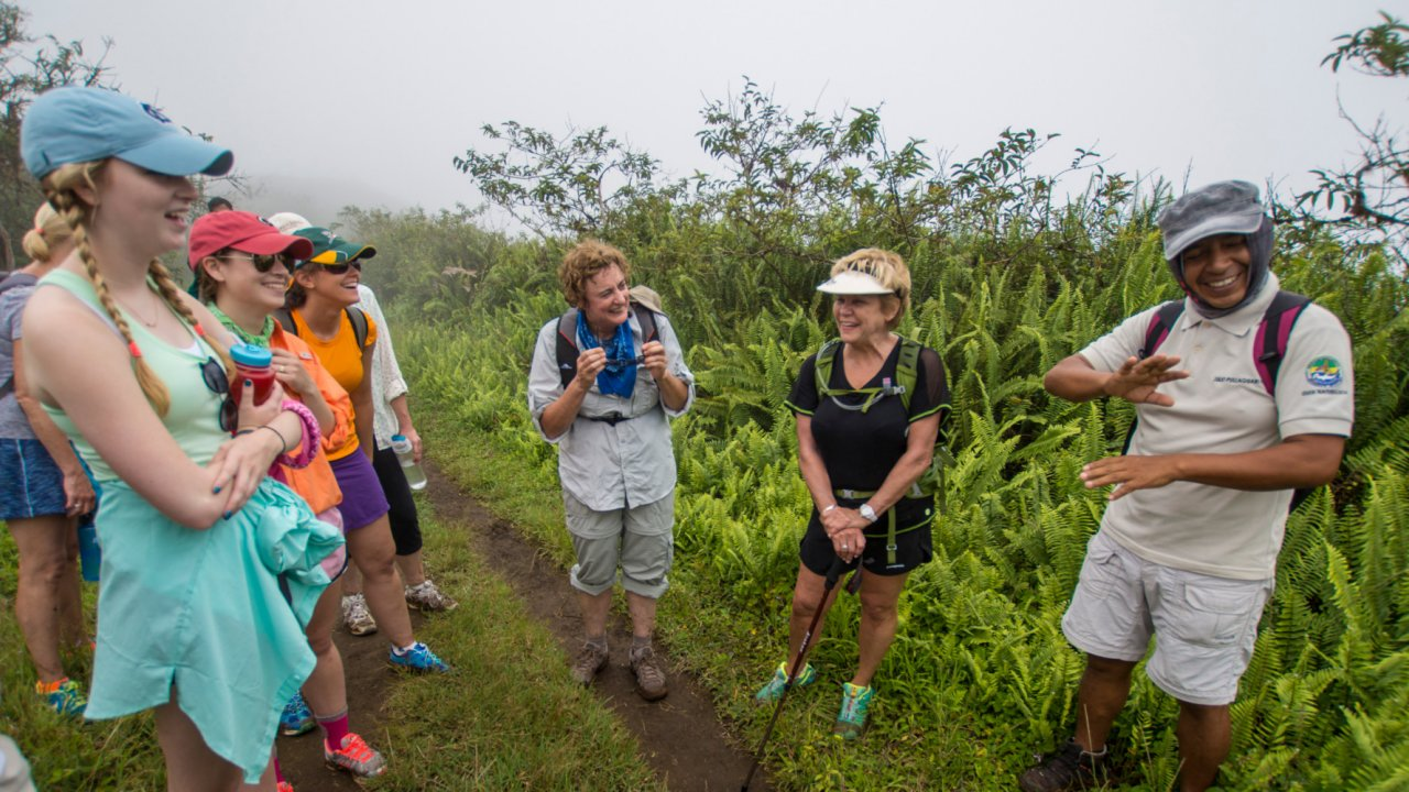hiking in the Galapagos Islands