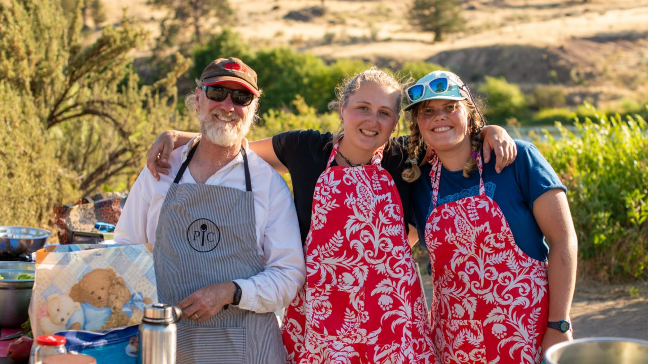 whitewater rafting guides cooking