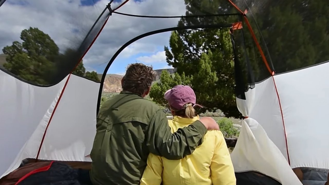 tent along the owyhee river