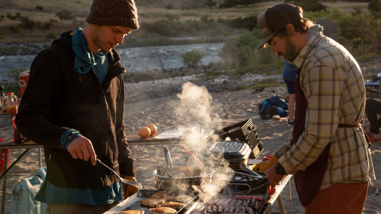 cooking along the river