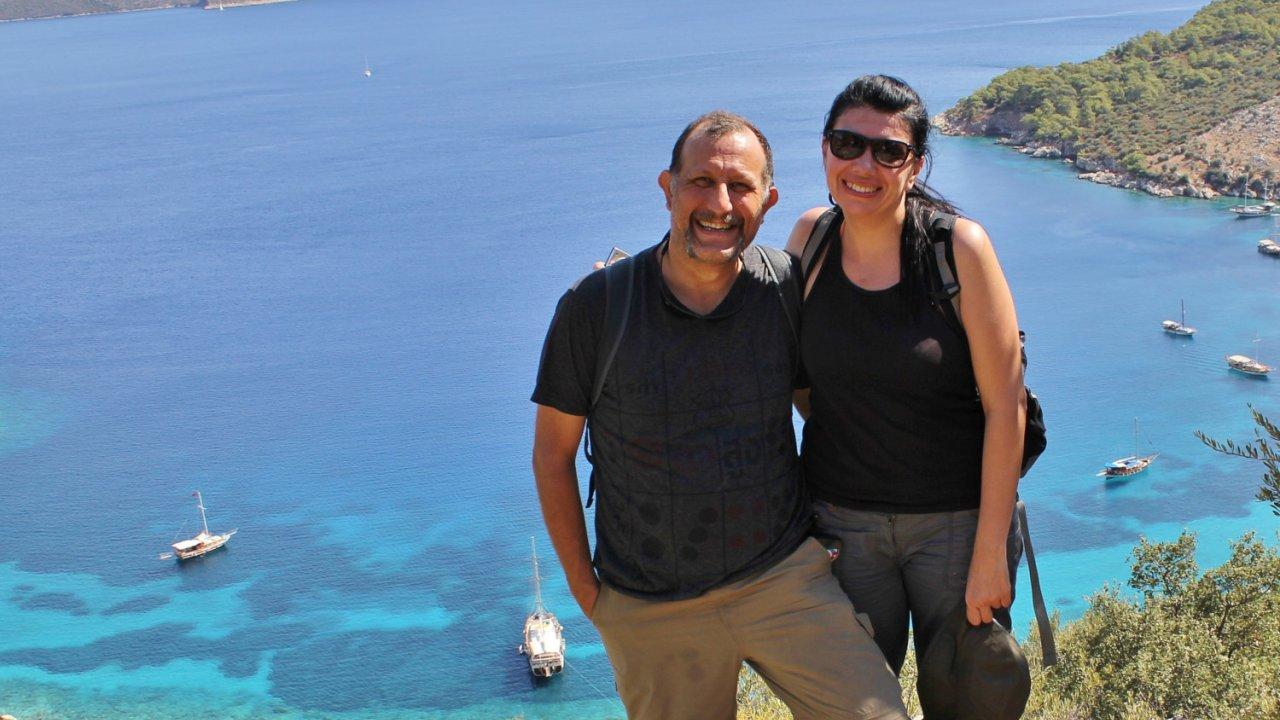 couple on turkey yacht trip
