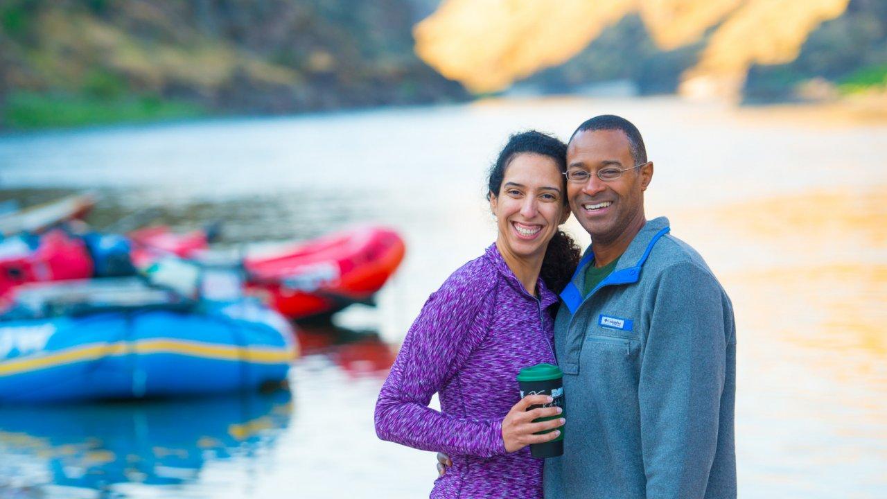 family rafting trip in idaho