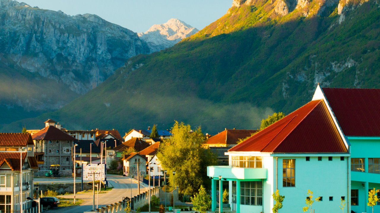 small town in the Albanian Alps