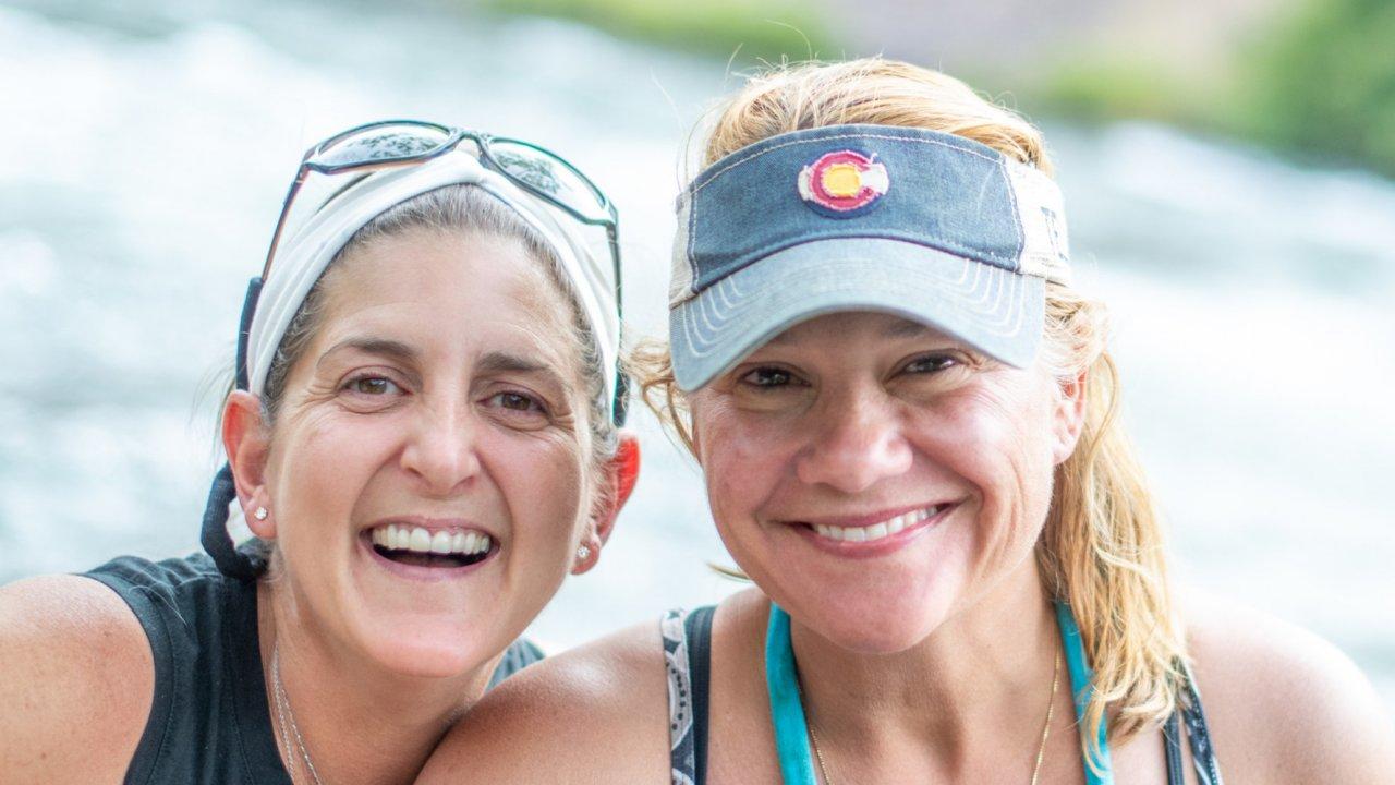 two ladies on an Oregon rafting trip
