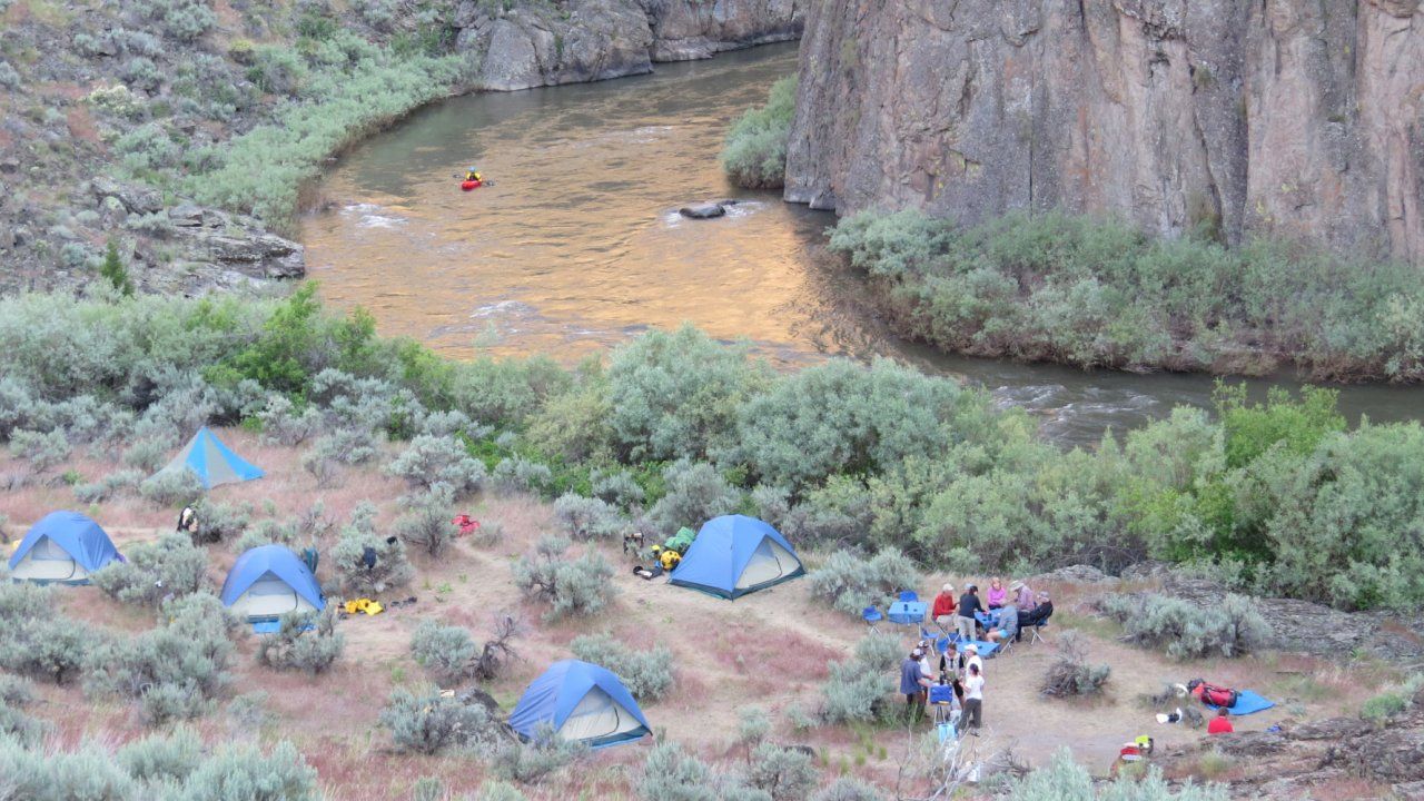 river camp along the bruneau river