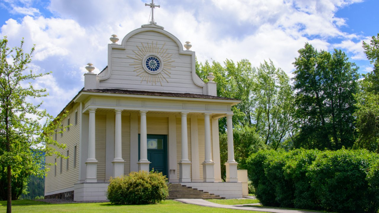 Cataldo Mission in Kellog Idaho