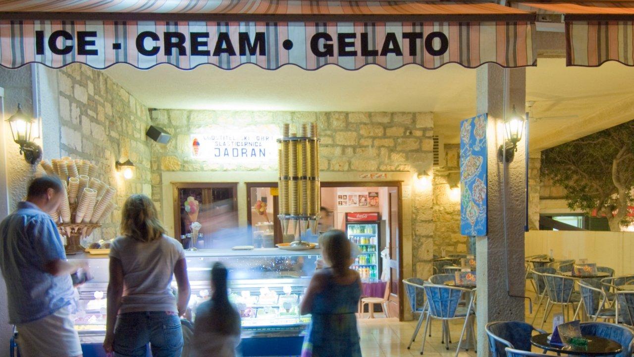 gelato shop in Croatia