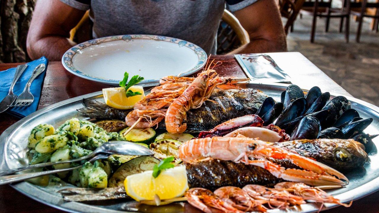 seafood platter in croatia