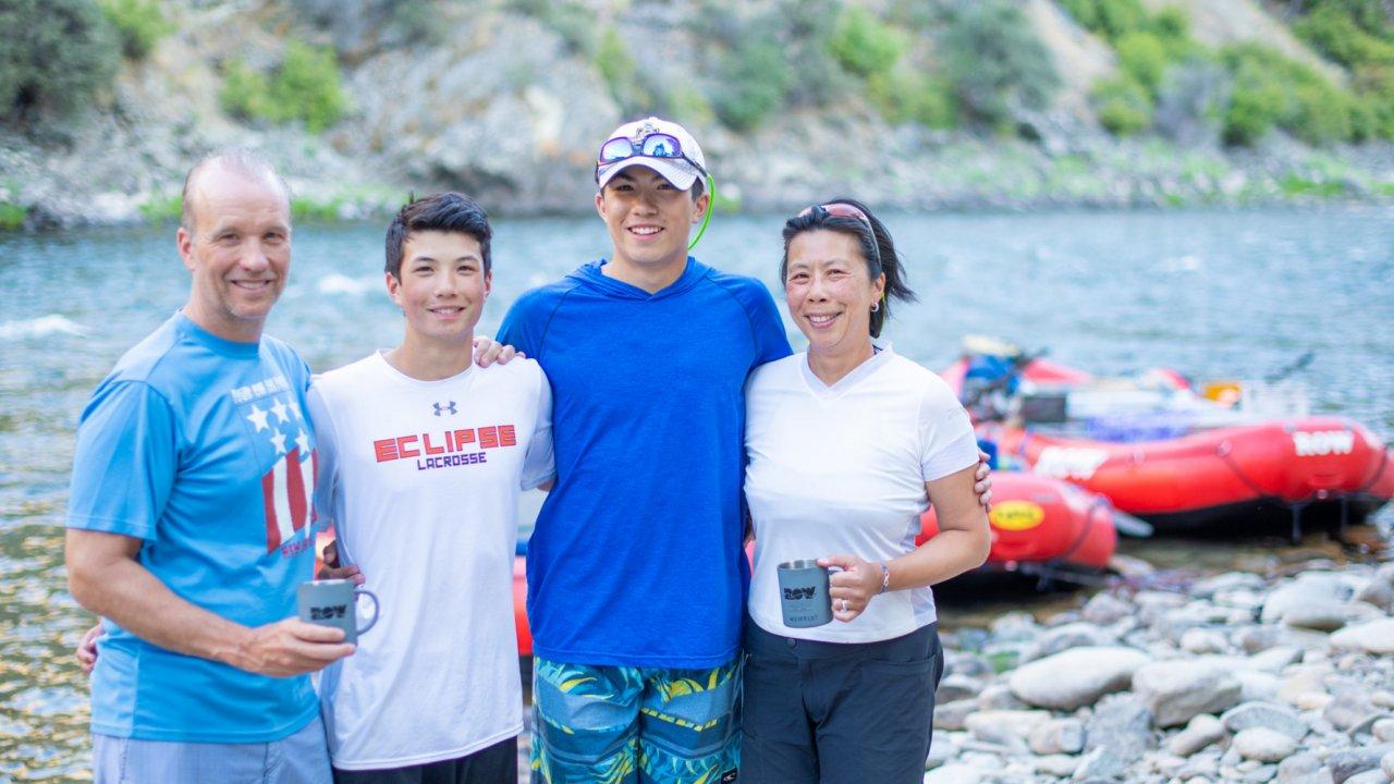 family rafting in idaho