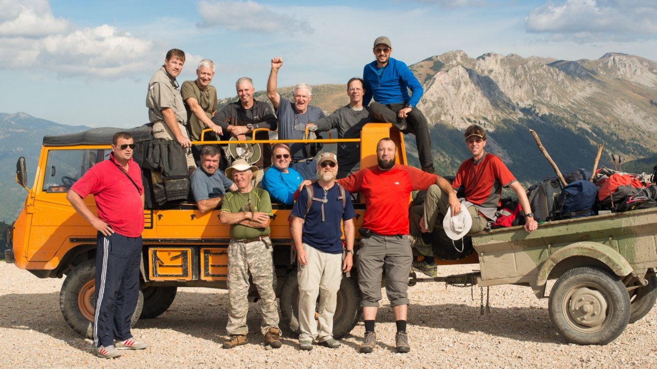 hiking group in Albania