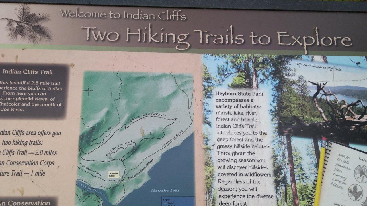information sign hayburn state park