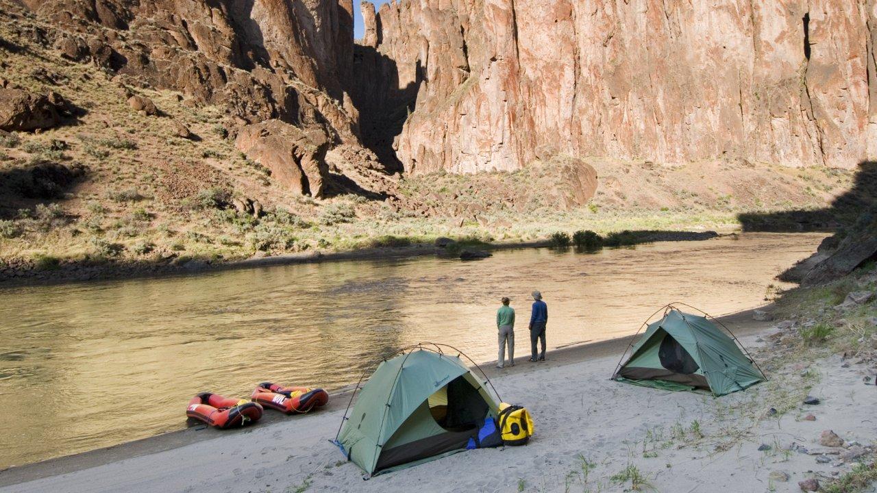 tents along the owyhee river in idaho
