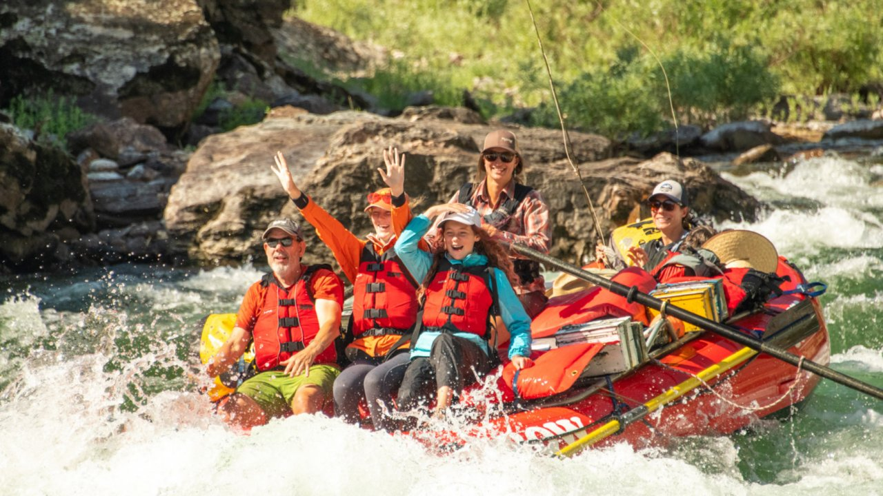 float and fish on the salmon river in idaho