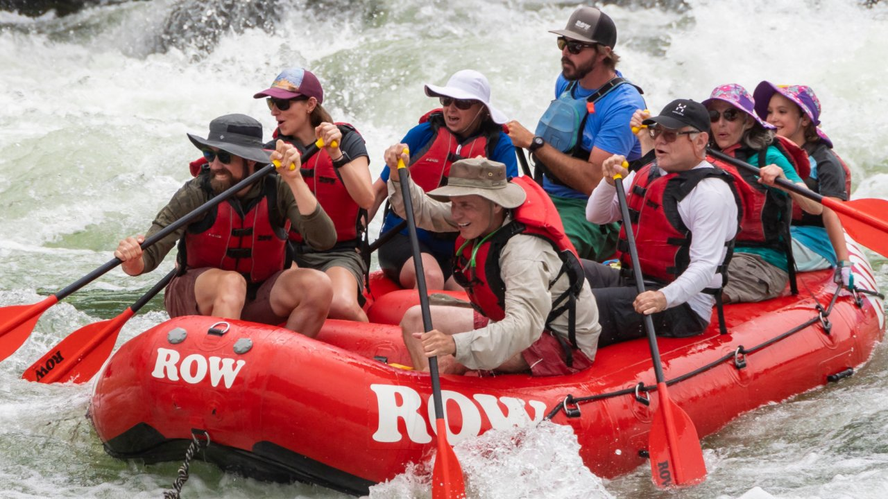 ROW raft on snake river