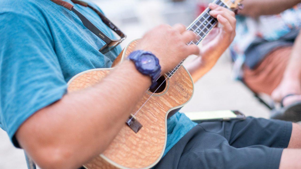 instrument in mans hands