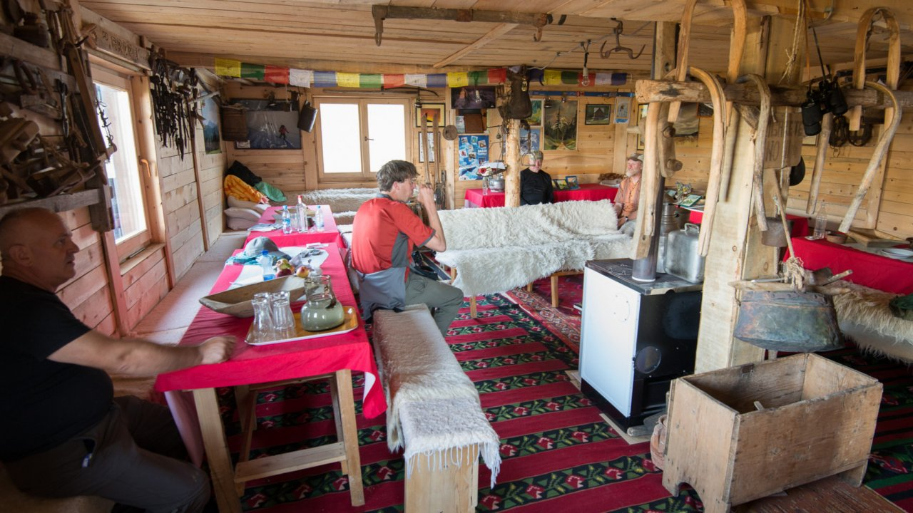 rustic lodge accommodations in Albanian Alps