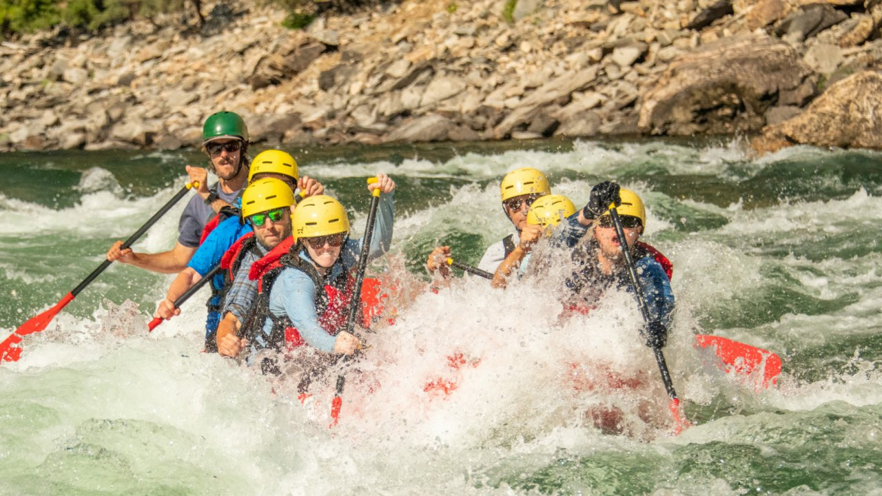 whitewater rapids along the salmon river