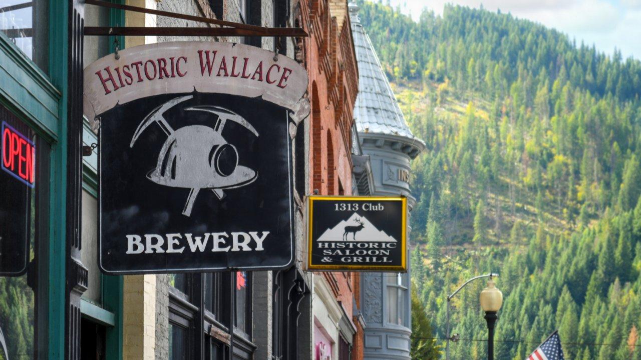 downtown wallace Idaho