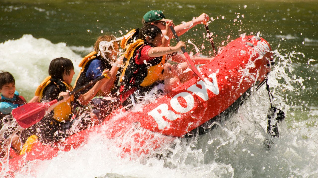 whitewater raft on the Selway river in Idaho