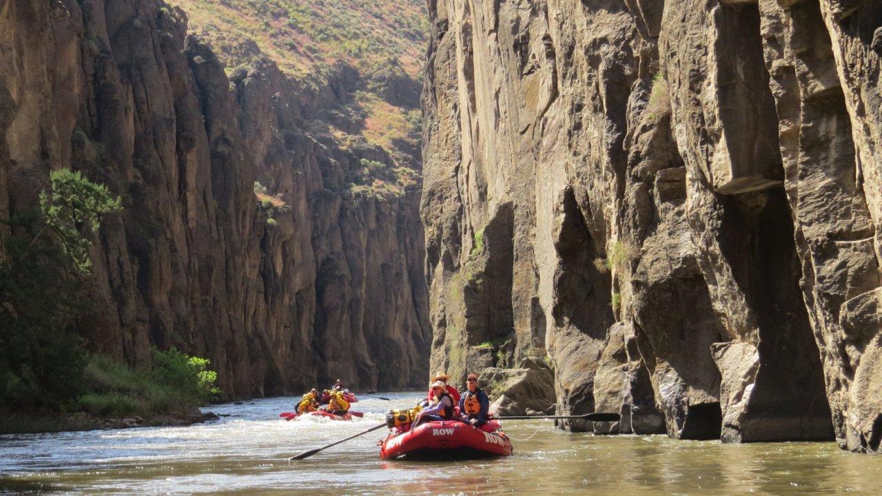 whitewater rafting on idahos bruneau river