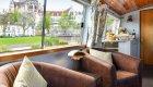 seating area on luxury barge