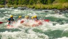 large whitewater rapid on the deschutes river in oregon