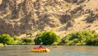 yellow cargo raft