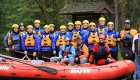 Rafting group on the lochsa river