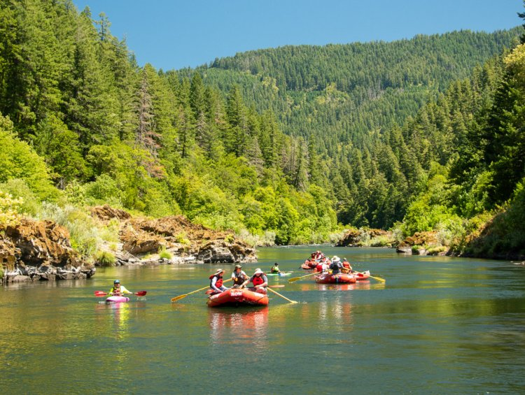 Rafting the Rogue River in Oregon