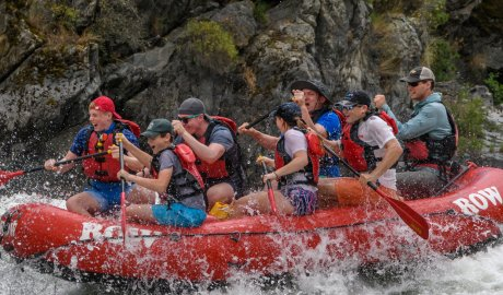 whitewater raft on the snake river in Idaho