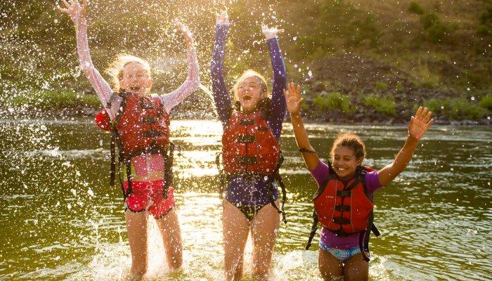 Kids on Family Magic Rafting Tour Salmon River