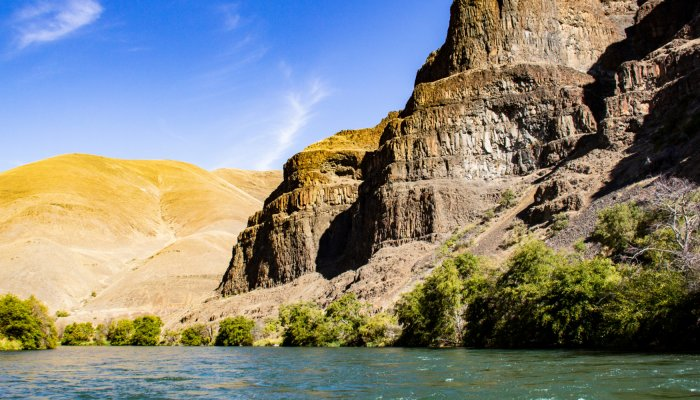 rock formations along the deschutes river in Oregon