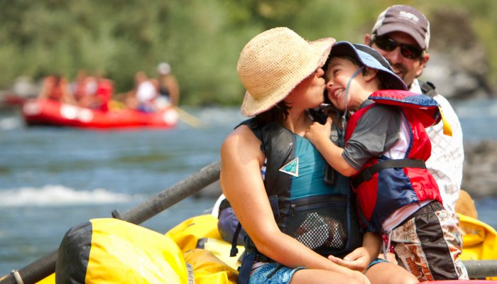 Mom and Son Rafting