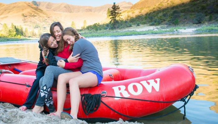 family rafting trip