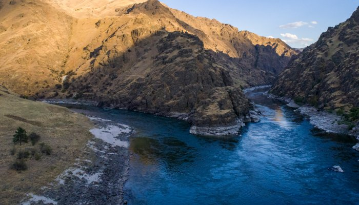 confluence of snake and salmon river in idaho