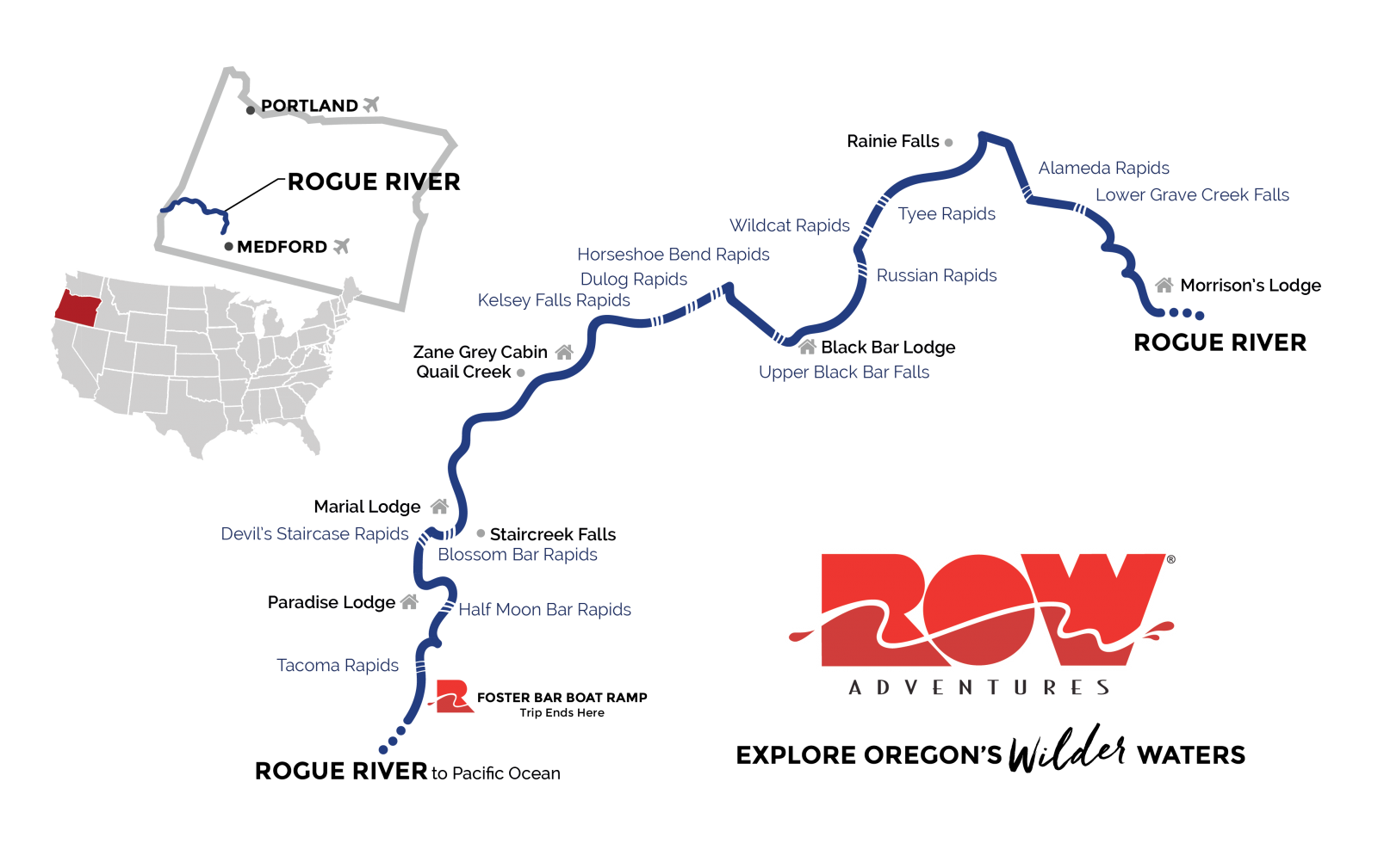 map of the rogue river