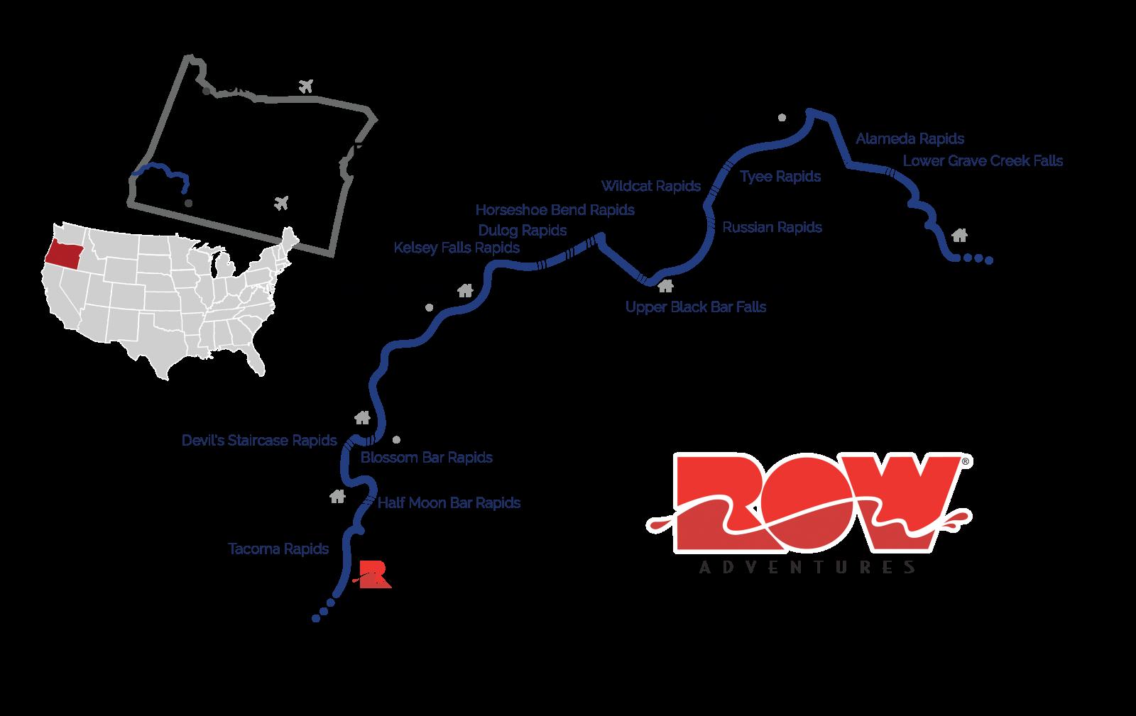 rogue river map