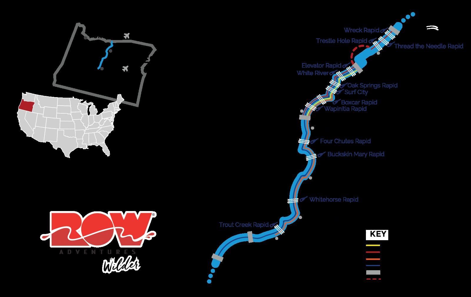 deschutes river map